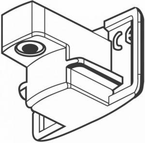 Päätykappale GB41-3 valkoinen