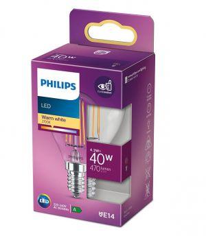 Led-lamppu 4,3W (40W) E14 pyöreä kirkas