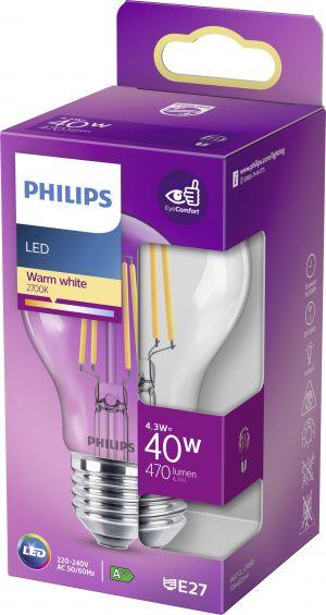 Led-lamppu E27 4,3W (40W) kirkas
