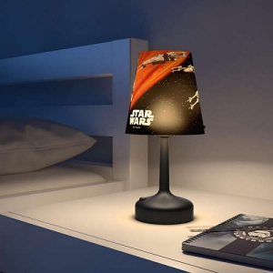 Spaceships black LED pöytävalaisin