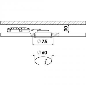 Briloner led 5W uppo valkoinen IP44