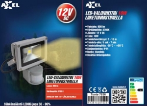 Led valonheitin liiketunnistimella 12V