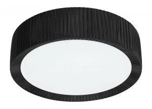 Alehandro plafondissa on musta reunus ja valkoinen lasi.