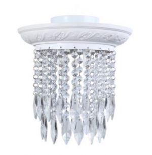 Kasperi kristalliplafondi valkoinen