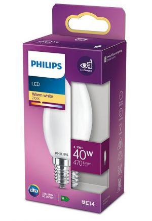 Led-lamppu 4,3W (40W) E14 kynttilä matta
