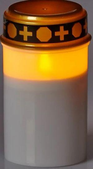Led hautakynttilä valon kanssa.