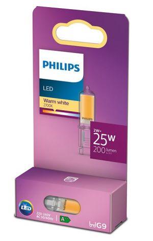 Led-lamppu G9 2W vastaa 25W pakkaus.