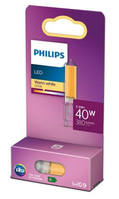 Led-lamppu G9 3,5W korvaa 40W.