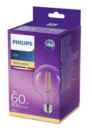 Led-lampun E27 kirkas pallokupu vastaa 60W pakkaus.