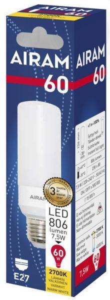 Putkilo tubular led-lamppu E27 vastaa 60W lämmin valo paketin kuva.