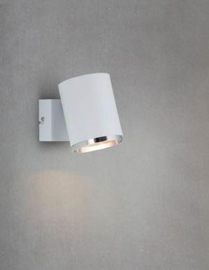Vertigo seinävalaisin alas valkoinen/kromi
