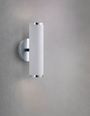 Vertigo seinävalaisin ylös/alas valkoinen/kromi